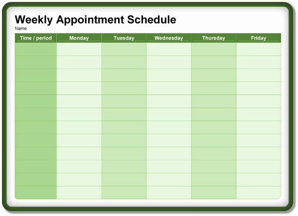 Free Appointment Schedule Template Awesome 8 Appointment Scheduling Scheduler Templates – Download