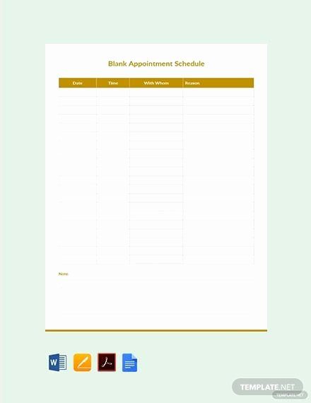 Free Appointment Schedule Template Elegant Free Doctor Appointment Schedule Template In Microsoft