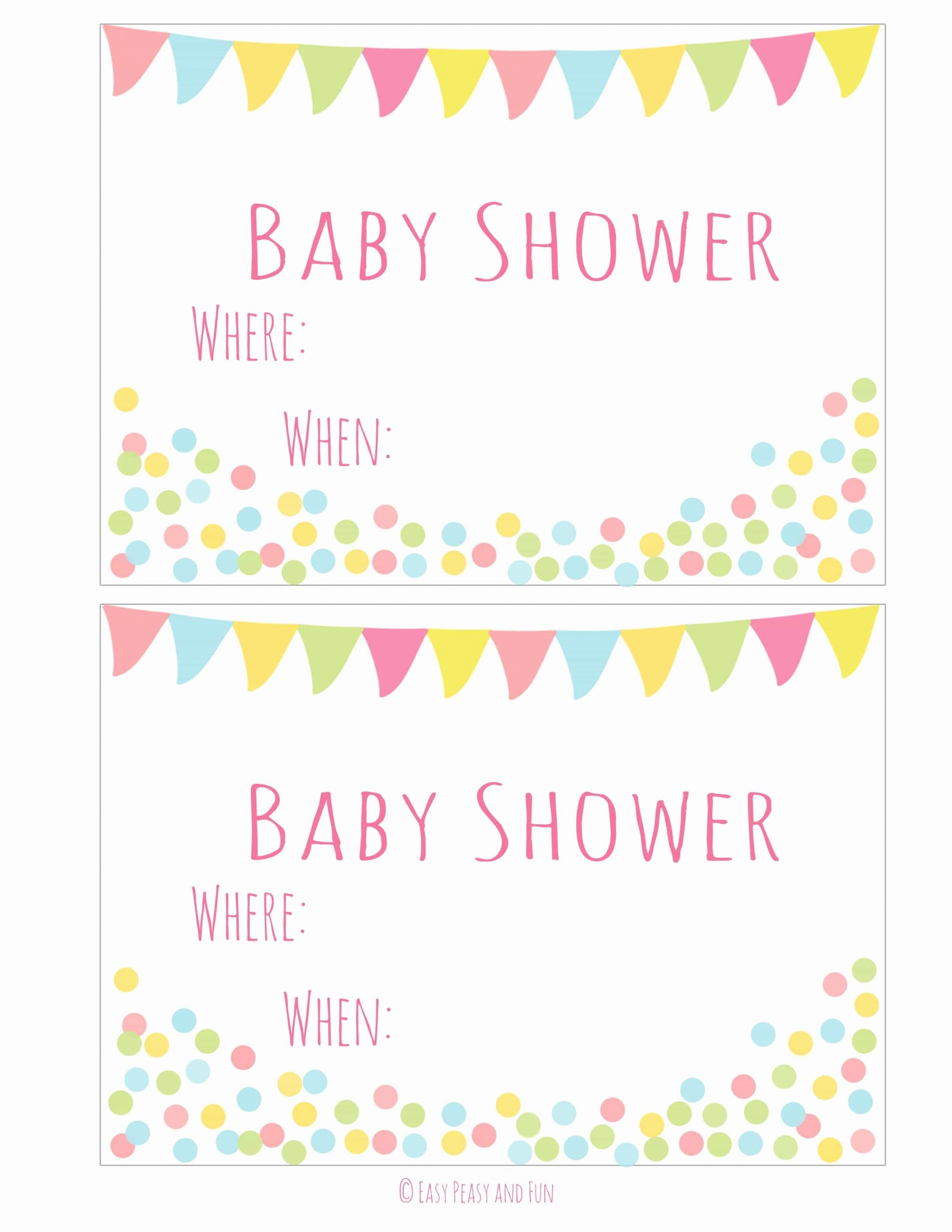 Free Baby Invitation Template Beautiful Free Printable Baby Shower Invitation Easy Peasy and Fun