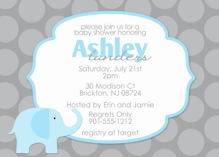 Free Baby Invitation Template Best Of 17 Best Images About Impressive Elephant Baby Shower