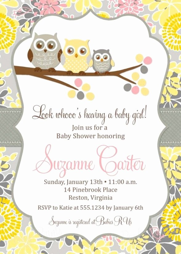 Free Baby Invitation Template Best Of Baby Shower Invitations Free Printable Owl theme Baby