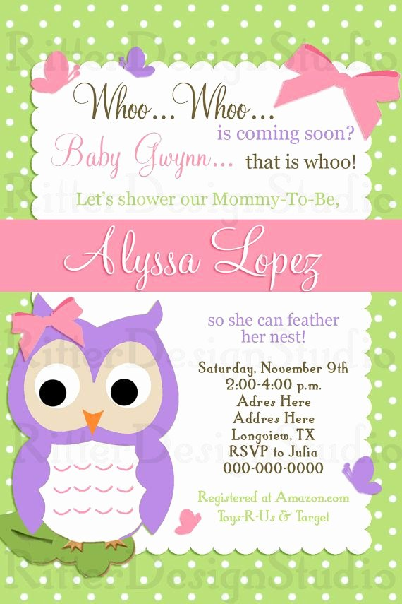 Free Baby Invitation Template Fresh whoo whoo Owl Baby Shower Invitation Printable Digital