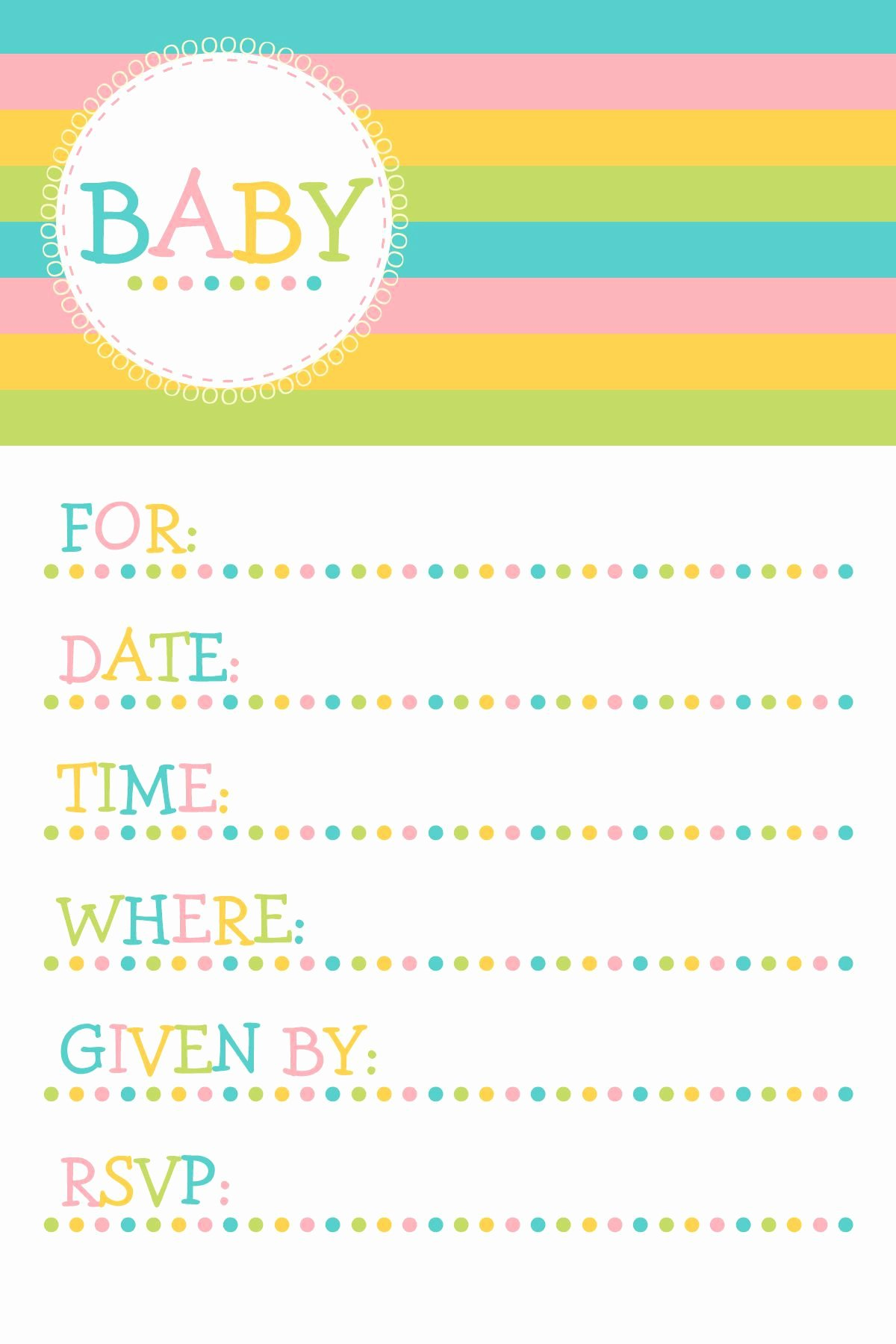 Free Baby Invitation Template Inspirational Free Baby Invitation Template Free Baby Shower