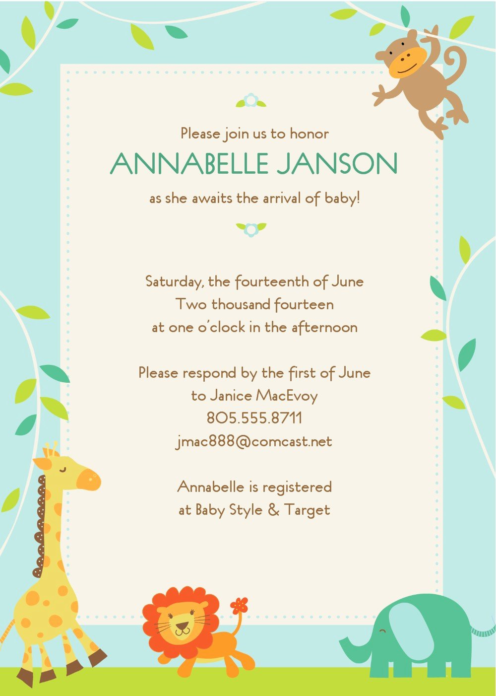 Free Baby Invitation Template Luxury Free Baby Shower Invitation Templates to Print at Home
