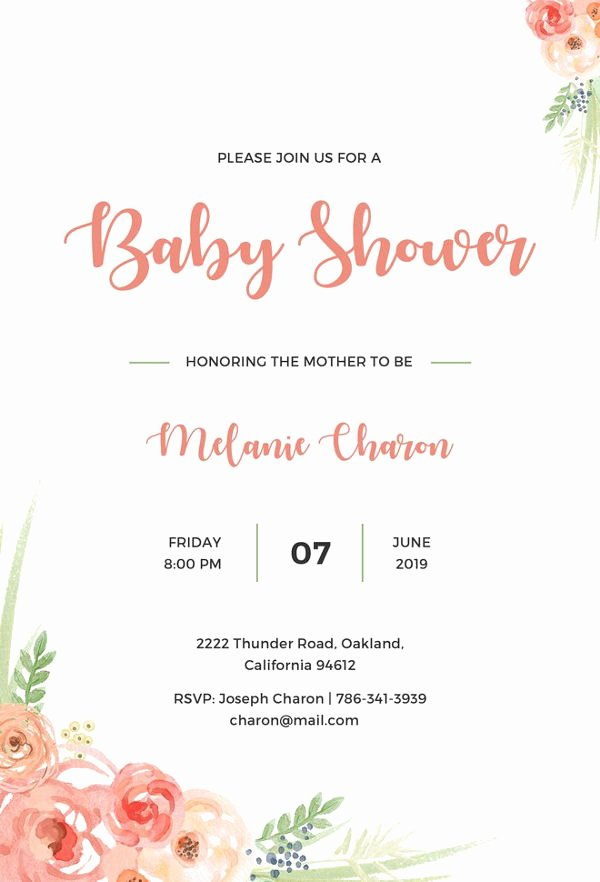 Free Baby Invitation Template New 22 Best Baby Shower Invitation Templates Editable Psd