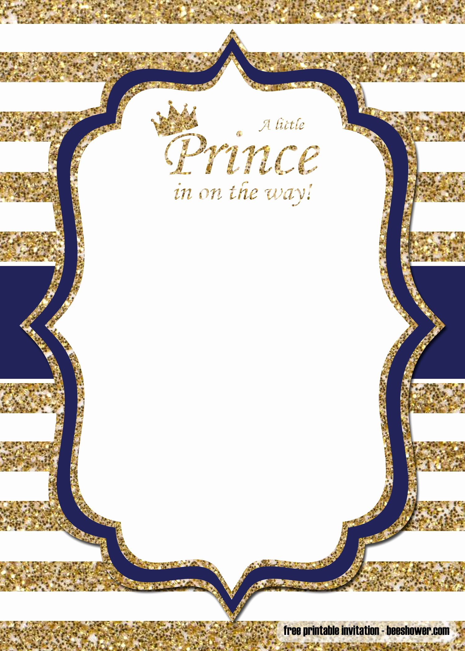 Free Baby Invitation Template Unique Free Prince Baby Shower Invitations Templates – Free