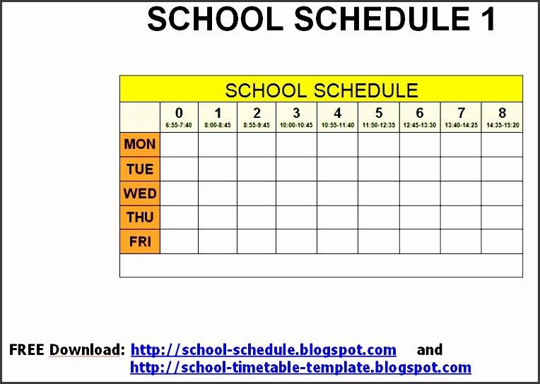 Free Class Schedule Template Elegant 10 Class Schedule Maker Sampletemplatess Sampletemplatess