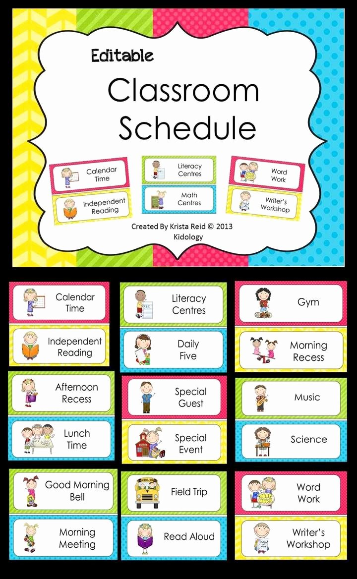 Free Class Schedule Template Elegant Daily Schedule Ideas for Pre K