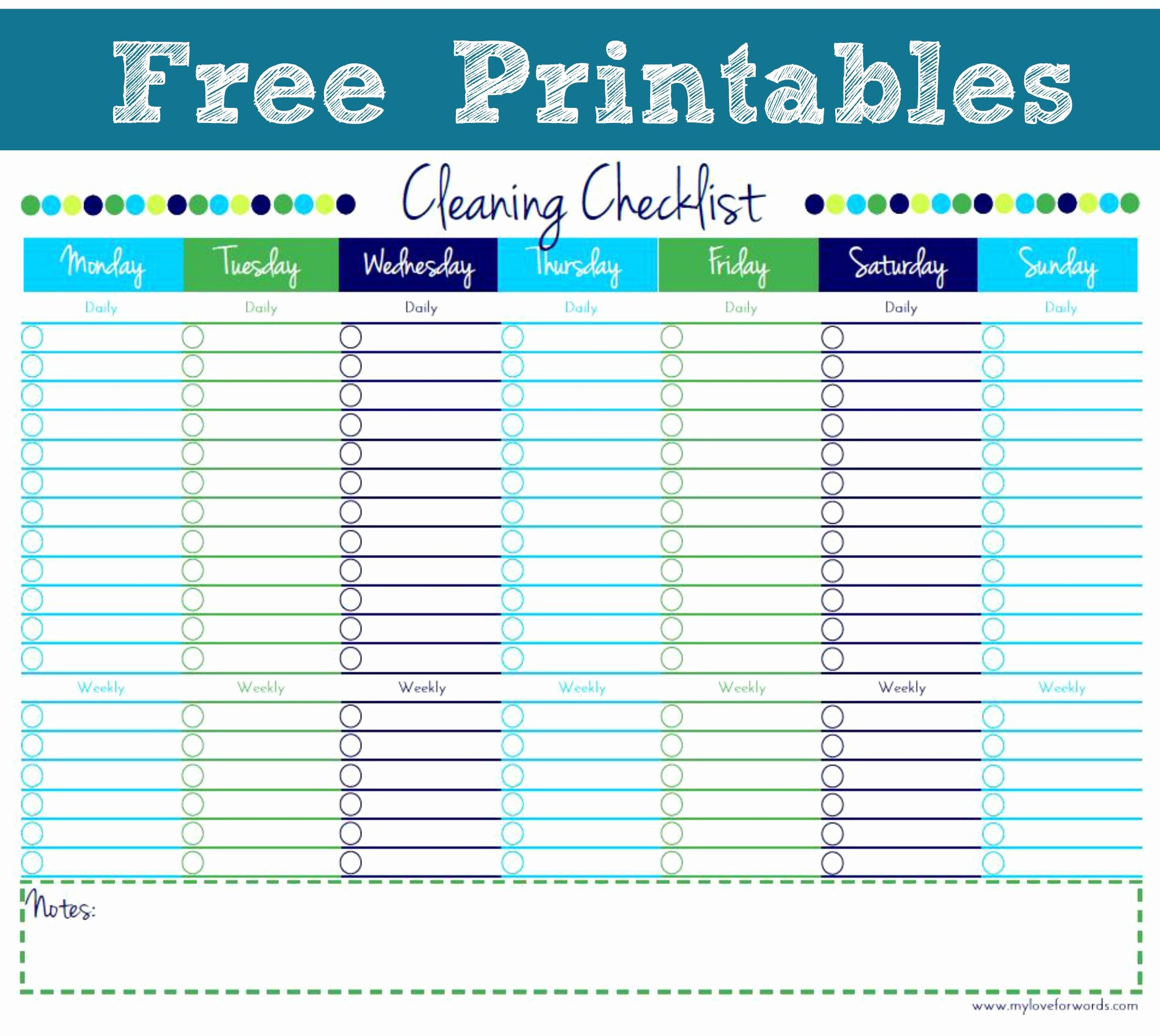 Free Cleaning Schedule Template Beautiful Artsy Corner Link Party