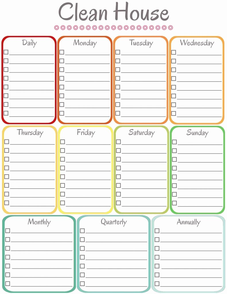 Free Cleaning Schedule Template Elegant Adult Cleaning Chart On Pinterest
