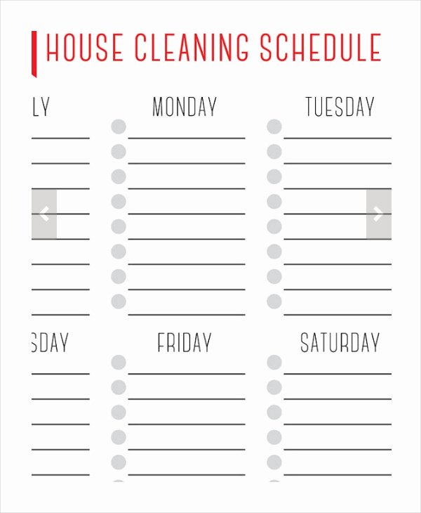 Free Cleaning Schedule Template Inspirational House Cleaning Schedule 16 Free Word Pdf Psd