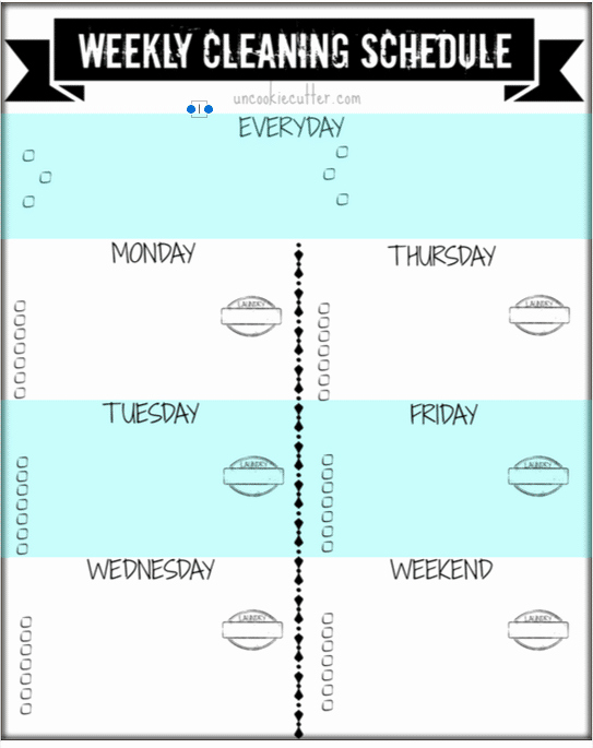 Free Cleaning Schedule Template Lovely Weekly Customizable Cleaning Schedule Printable and Video