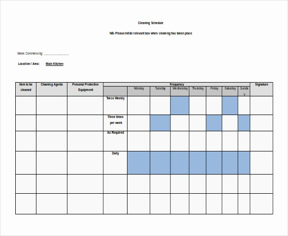 Free Cleaning Schedule Template New 20 Effective Schedule and Timetable Templates for Your