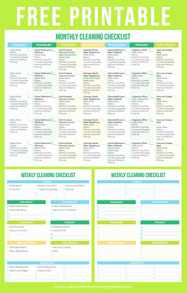 Free Cleaning Schedule Template New Maintain A Clean Home Printable Cleaning Schedule