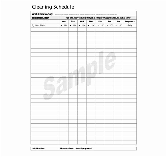 Free Cleaning Schedule Template Unique Kitchen Cleaning Schedule Template 21 Free Word Pdf