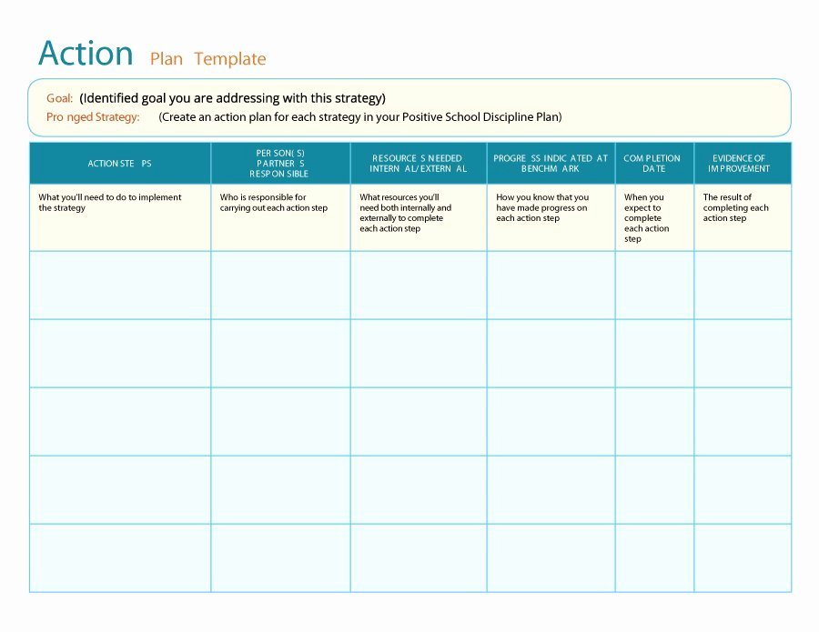 Free Corrective Action Plan Template Unique 45 Free Action Plan Templates Corrective Emergency
