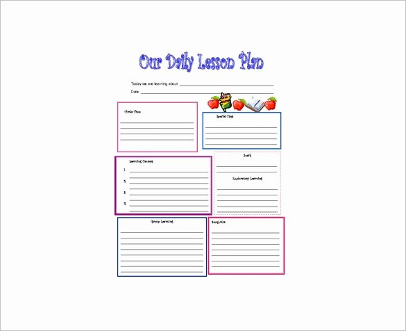 Free Daily Lesson Plan Template Awesome Daily Lesson Plan Template 10 Free Word Excel Pdf