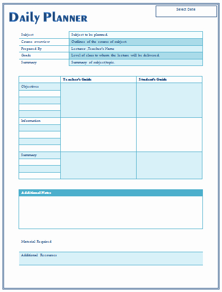Free Daily Lesson Plan Template Inspirational 14 Free Daily Lesson Plan Templates for Teachers