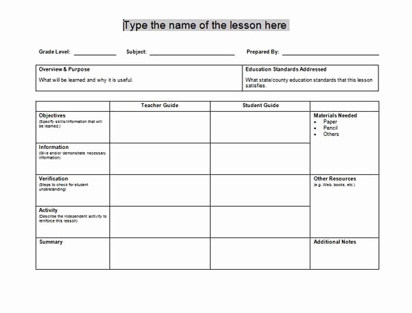 Free Daily Lesson Plan Template New Lesson Plan Templates Microsoft Word Templates