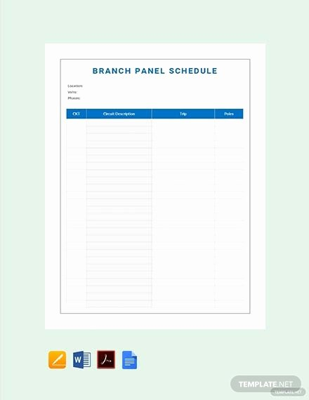 Free Electrical Panel Schedule Template Awesome Free Electrical Panel Schedule Template Download 173