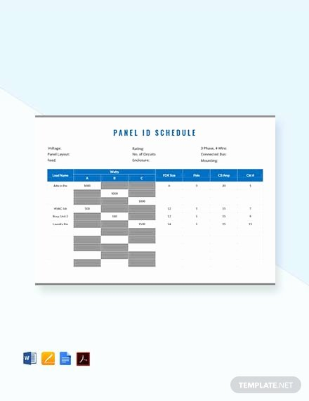 Free Electrical Panel Schedule Template Beautiful Free Electrical Panel Schedule Template Download 173
