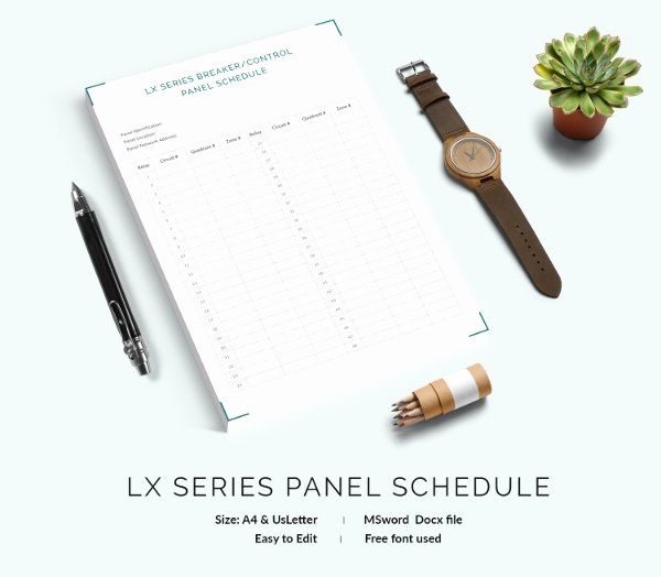 Free Electrical Panel Schedule Template Best Of 19 Panel Schedule Templates Doc Pdf