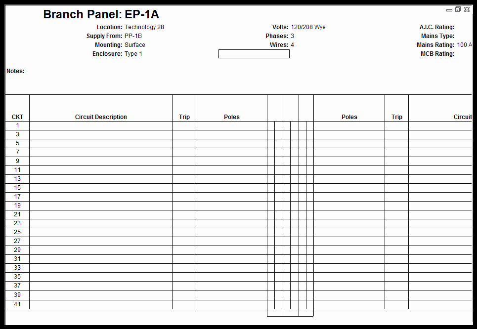 Free Electrical Panel Schedule Template Fresh Customize Revit Electrical Panel Schedule Template
