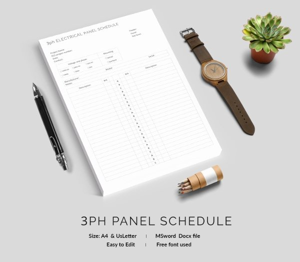 Free Electrical Panel Schedule Template Inspirational 19 Panel Schedule Templates Doc Pdf