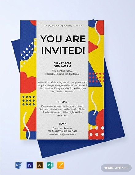 Free Email Invitation Template Fresh Free Email Party Invitation Template Word