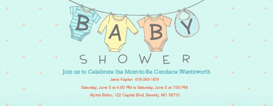 Free Email Invitations Template Awesome Free Baby Shower Invitations
