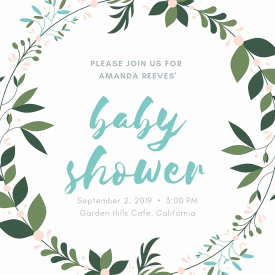 Free Email Invitations Template Best Of Customize 578 Baby Shower Invitation Templates Online Canva