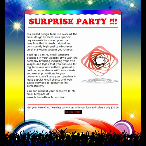 Free Email Invitations Template Luxury Party Invitation