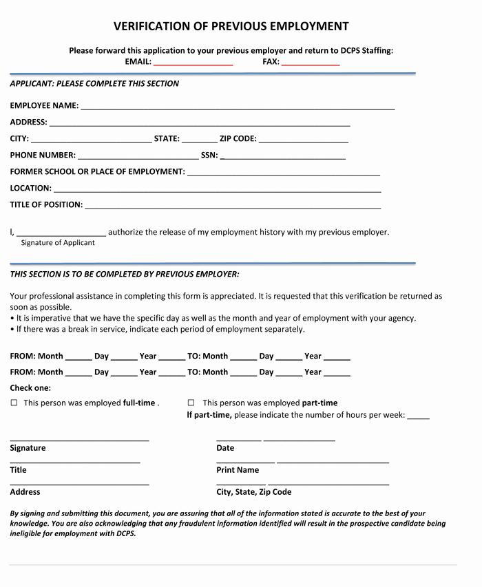 Free Employee Verification form Template Beautiful 5 Employment Verification form Templates to Hire Best Employee
