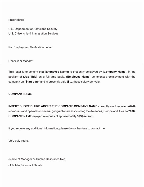 Free Employee Verification form Template Best Of Free Printable Letter Employment Verification form