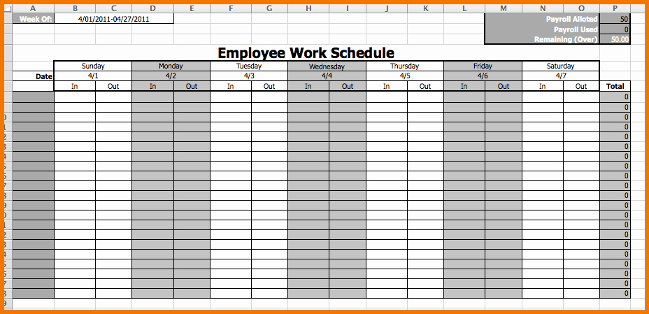 Free Employee Work Schedule Template Best Of Weekly Employee Work Schedule Free Template Driverlayer