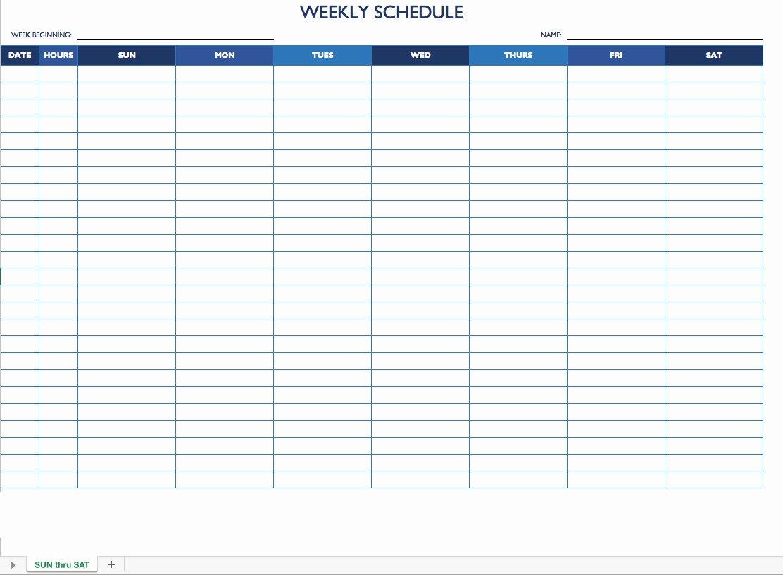 Free Employee Work Schedule Template Fresh Free Weekly Employee Work Schedule Template