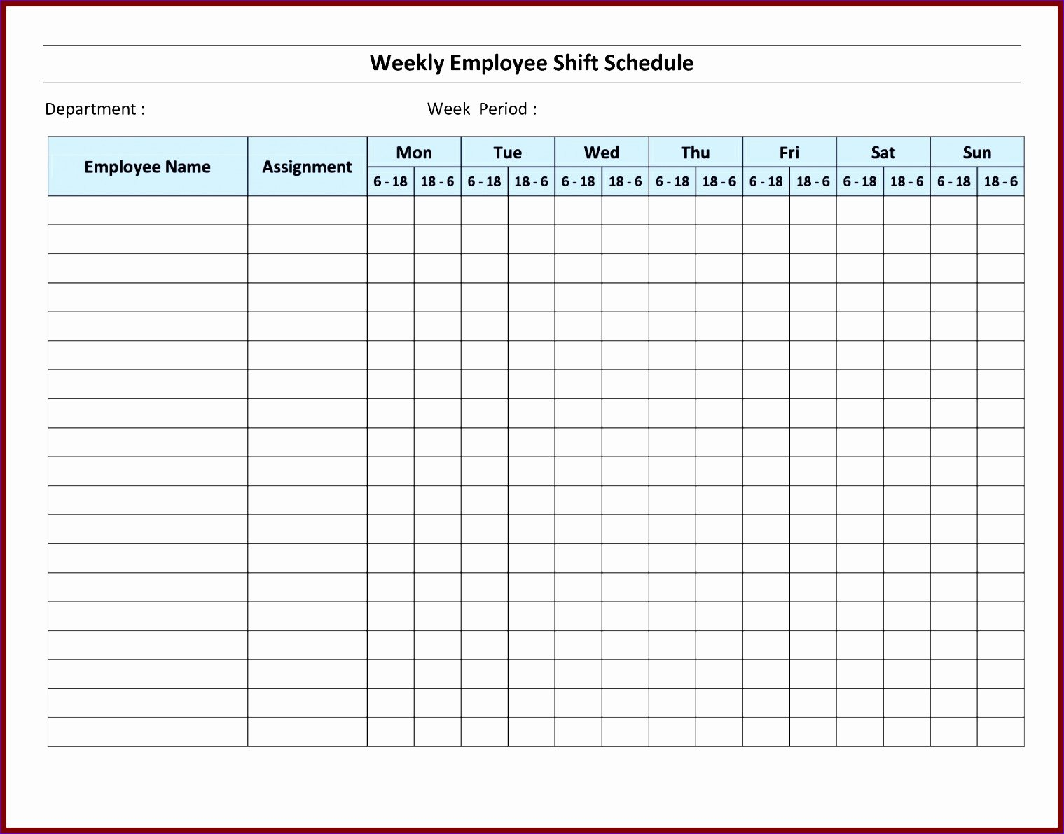 Free Employee Work Schedule Template Inspirational 7 Monthly Staff Schedule Template Excel Exceltemplates