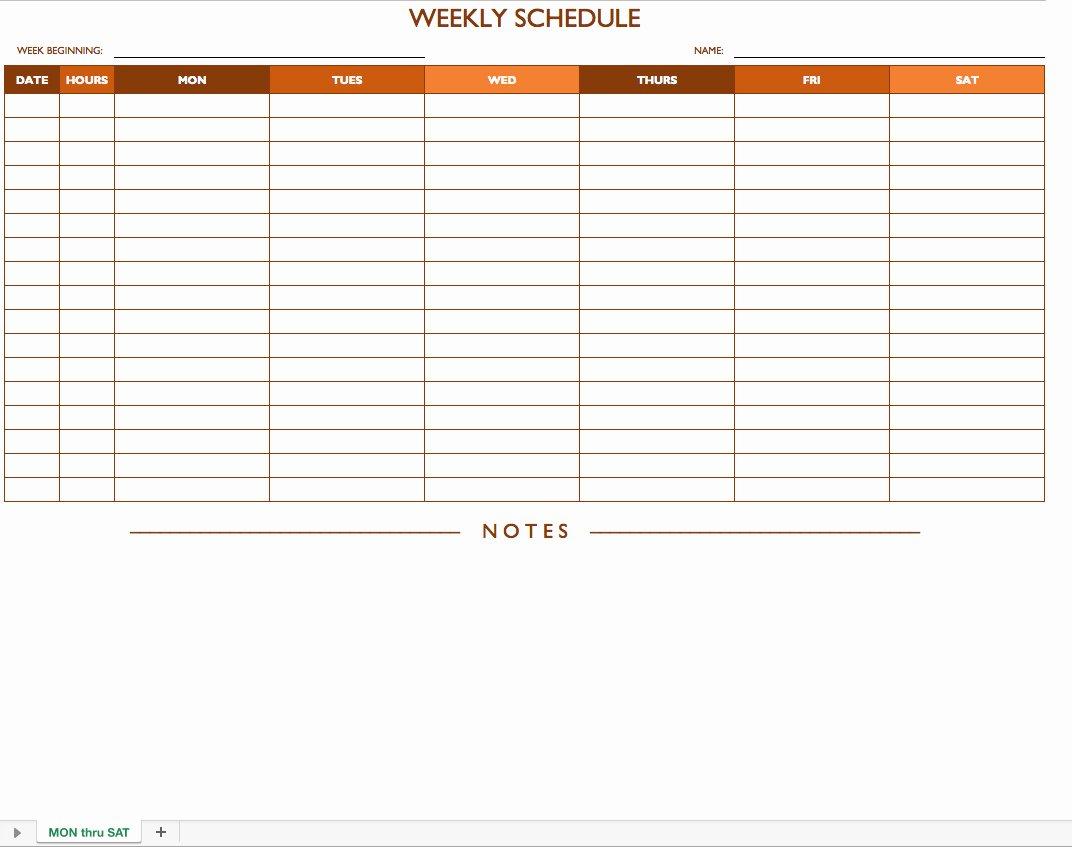 Free Employee Work Schedule Template Inspirational Free Weekly Employee Work Schedule Template