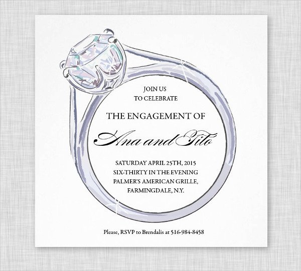 Free Engagement Party Invitation Template Elegant 12 Engagement Party Invitations Psd Word