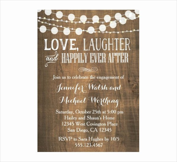 Free Engagement Party Invitation Template Elegant 14 Engagement Party Invitations Psd Ai Vector Eps