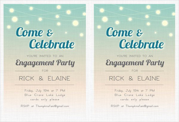 Free Engagement Party Invitation Template Fresh 49 Engagement Invitation Designs Psd Ai Vector Eps