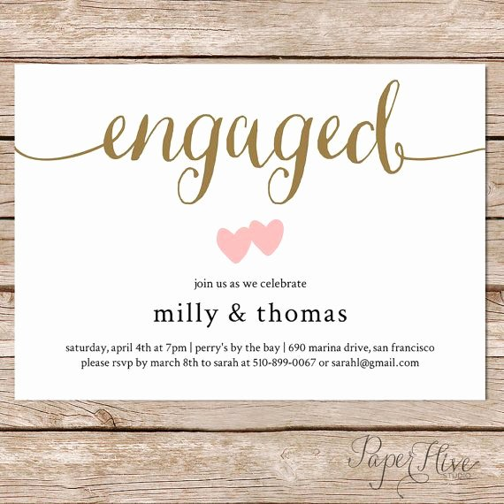 Free Engagement Party Invitation Template Inspirational 10 Engagement Invitation Cards Ideas for Awesome Couples