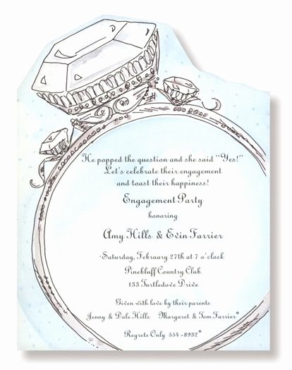 Free Engagement Party Invitation Template Inspirational Diamond Ring Engagement Party Invitations
