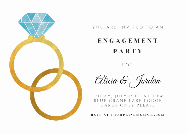Free Engagement Party Invitation Template Lovely Big Rings Engagement Party Invitation Template Free