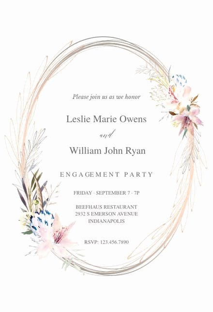 Free Engagement Party Invitation Template Lovely Engagement Party Invitation Templates Free