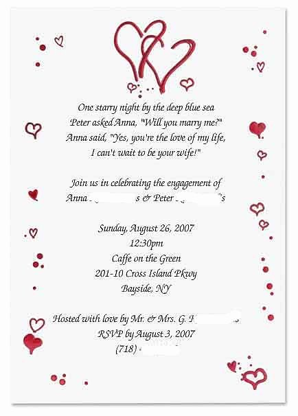 Free Engagement Party Invitation Template Luxury Fun Engagement Party Invitation Wording