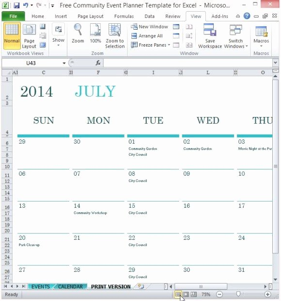 Free event Planner Template Fresh Free Munity event Planner Template for Excel