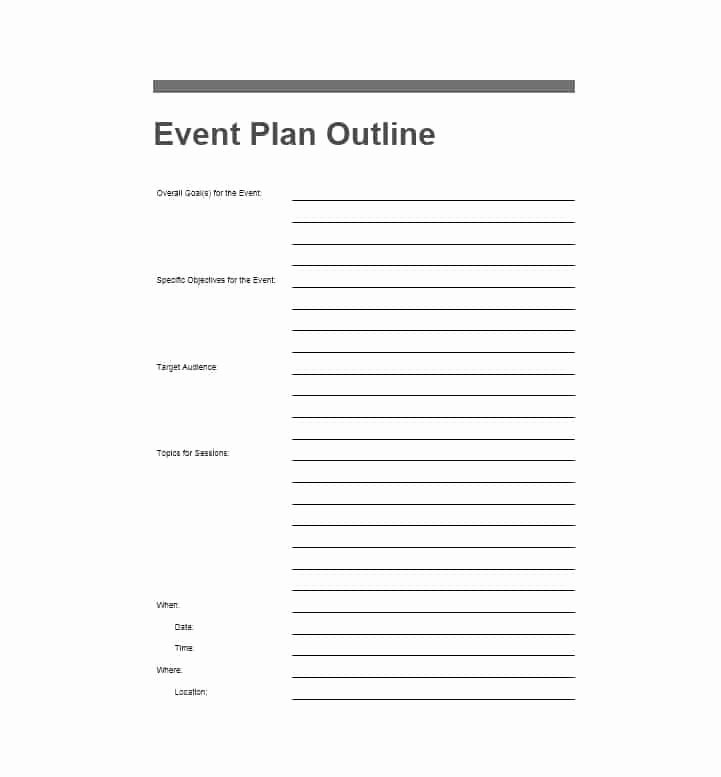 Free event Planner Template New 50 Professional event Planning Checklist Templates