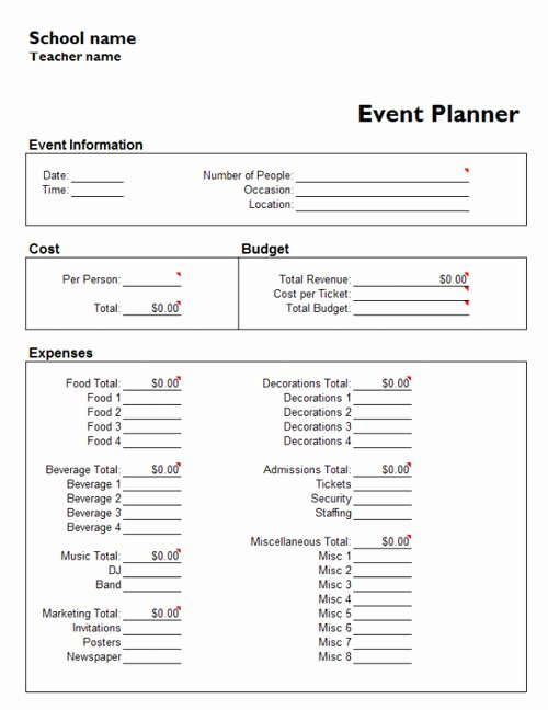 Free event Planning Template Elegant Useful Microsoft Word & Microsoft Excel Templates Hongkiat