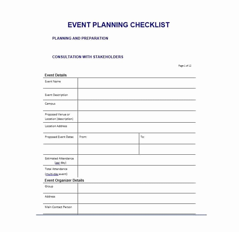 Free event Planning Template Fresh 50 Professional event Planning Checklist Templates